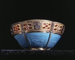 cat n 117 Scodella di vetro turchese